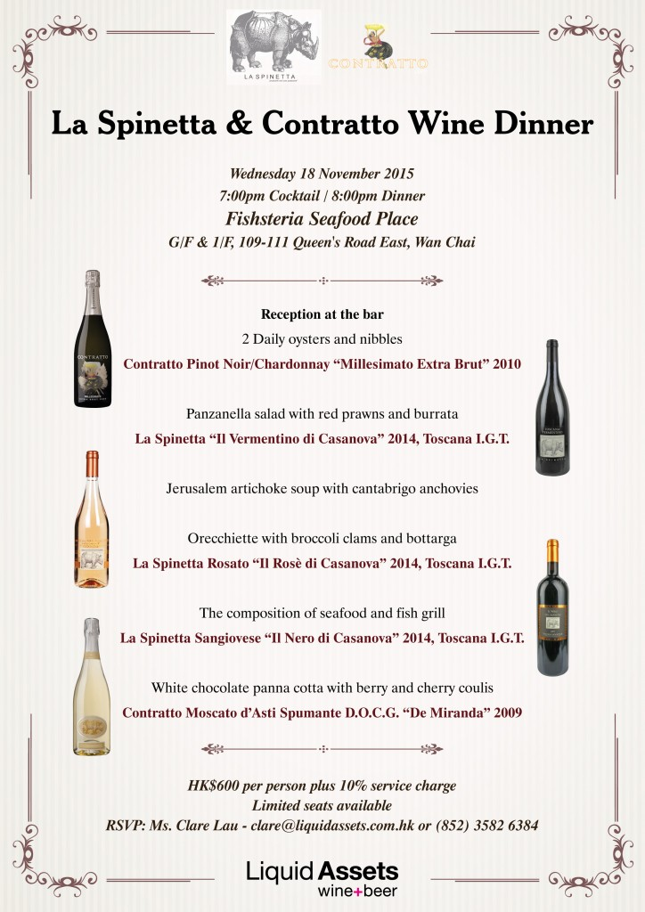 La Spinetta & Contratto Wine Dinner @ Fishsteria EDM v2
