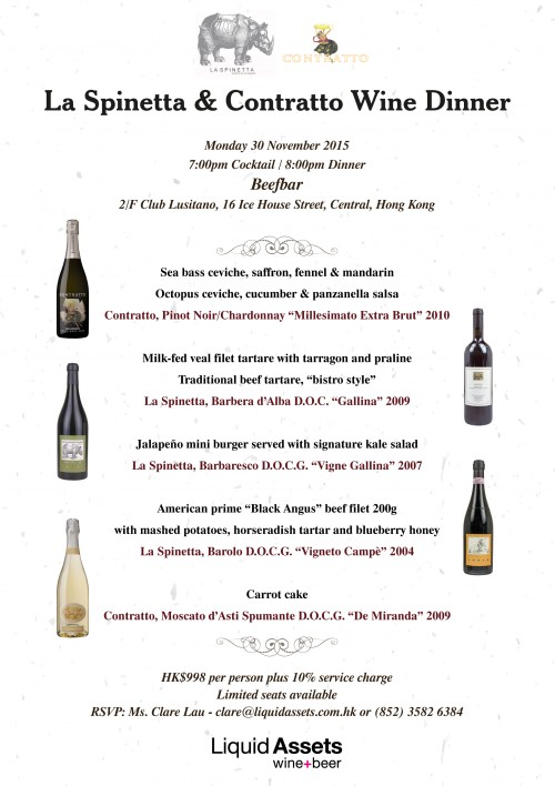 La Spinetta Wine Dinner @ Beefbar EDM v2