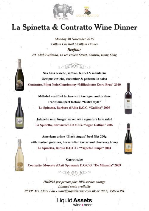 La Spinetta Wine Dinner @ Beefbar EDM v2