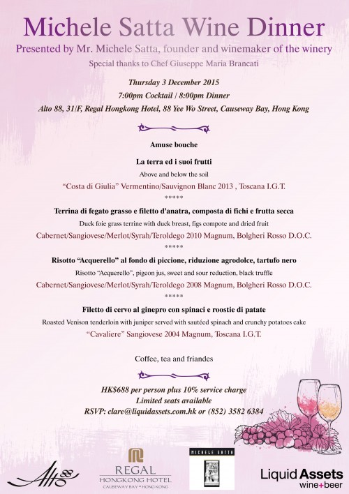 Michele Satta Wine Dinner @ Alto 88 EDM v2.1