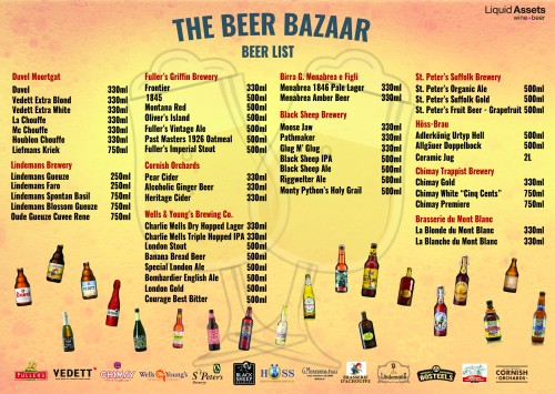 We will be showcasing different kinds of craft beers from around the world. Come and join us!!